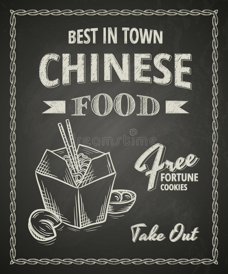 Chiński karmowy plakat ilustracji