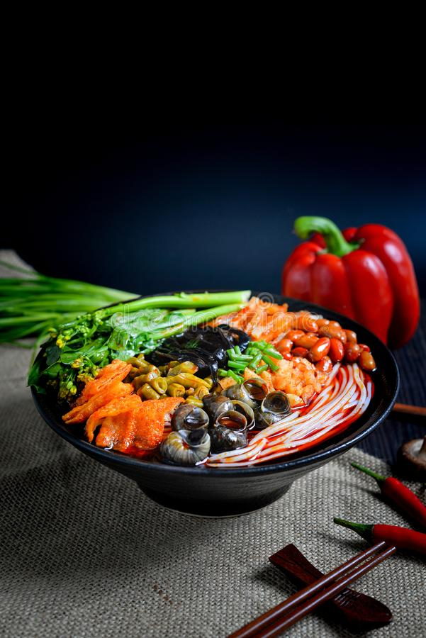 Chiński karmowych i Chińskich klusek południowy Chiński jedzenie fotografia stock