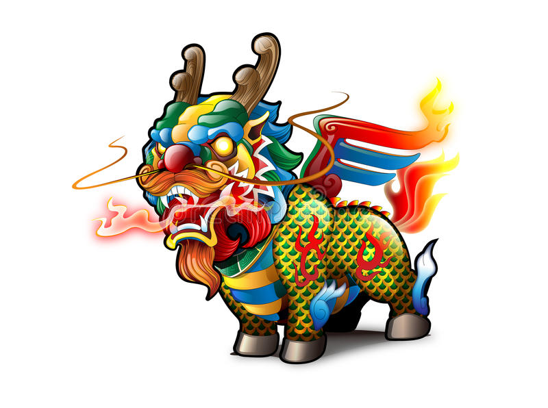 chiński kirin ilustracja wektor