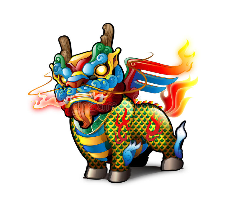 chiński kirin ilustracji