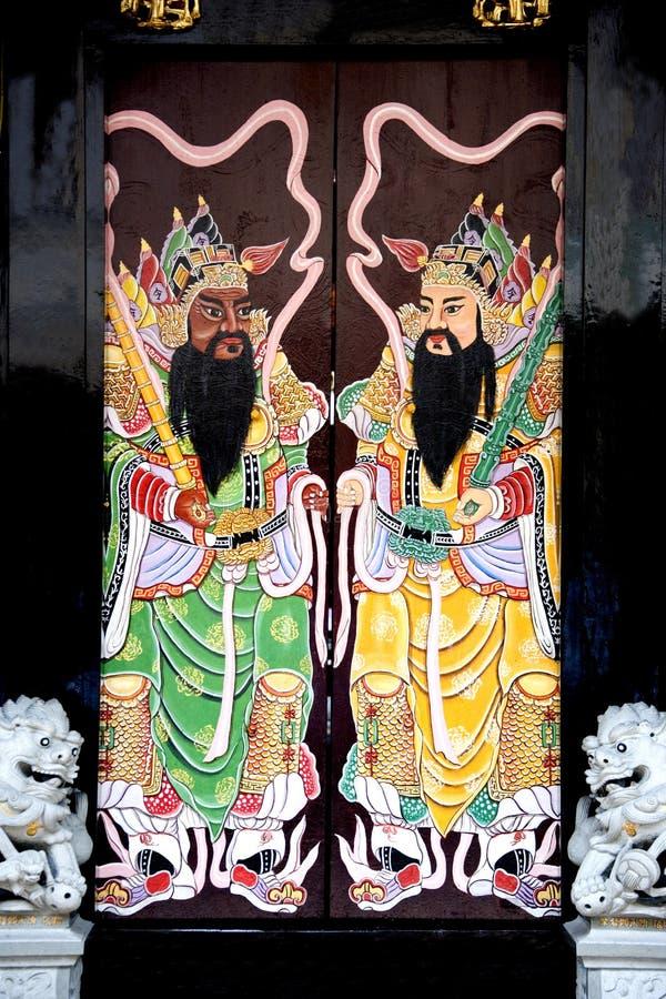 chiński klanowi drzwi do domu obrazy royalty free