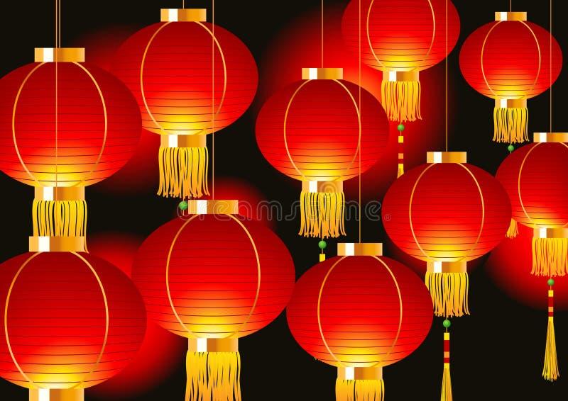 chiński lampion royalty ilustracja