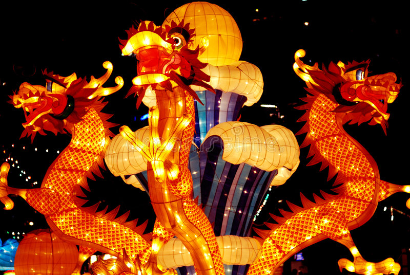 chiński lampionu papieru zdjęcia stock