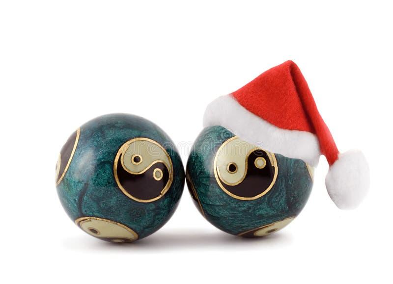 Chiński masaż piłek chińczyka nowy rok obraz stock