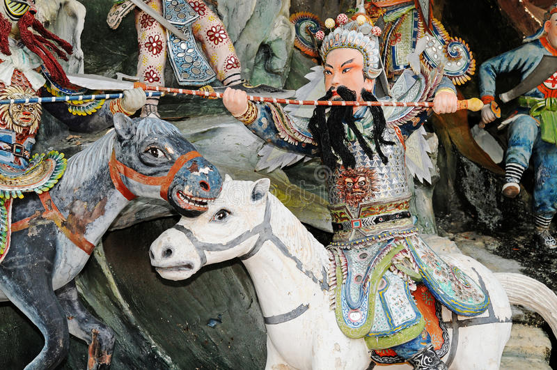 chiński mityczny wojownik zdjęcie royalty free