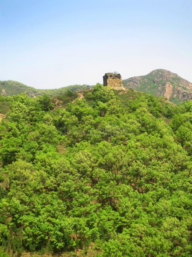 Chiński muur; Wielki Mur, prowincja hebei, Chiny zdjęcie stock