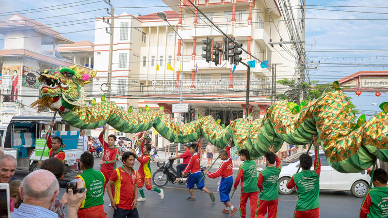 Chiński nowego roku świętowanie w Tajlandia fotografia royalty free
