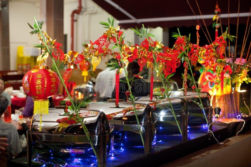 Chiński nowego roku bufeta położenie zdjęcia stock