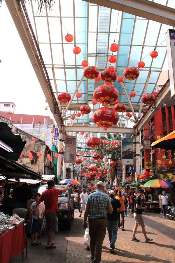 Chiński nowego roku nastrój przy petating ulicą zdjęcie royalty free