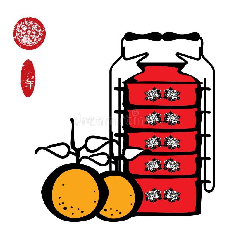 chiński nowy rok ilustracji
