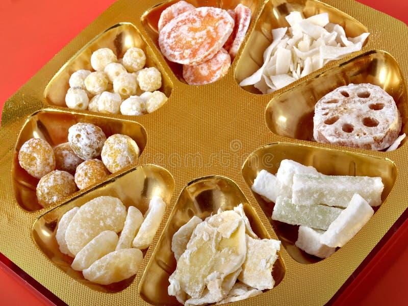 chiński nowy rok słodycze obraz royalty free