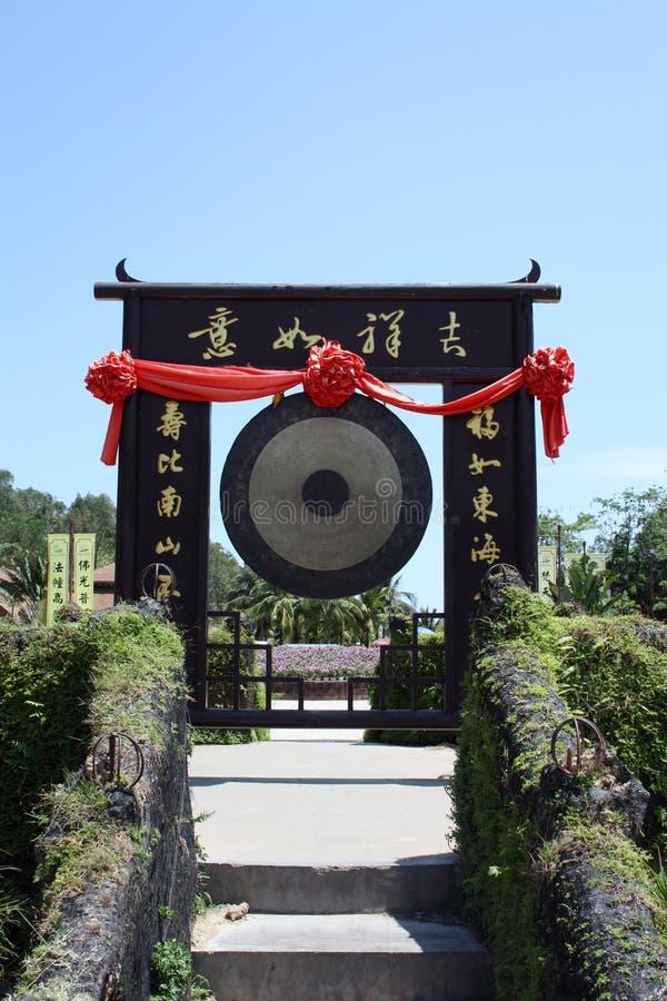 Chiński ołtarzowy gong zdjęcia royalty free