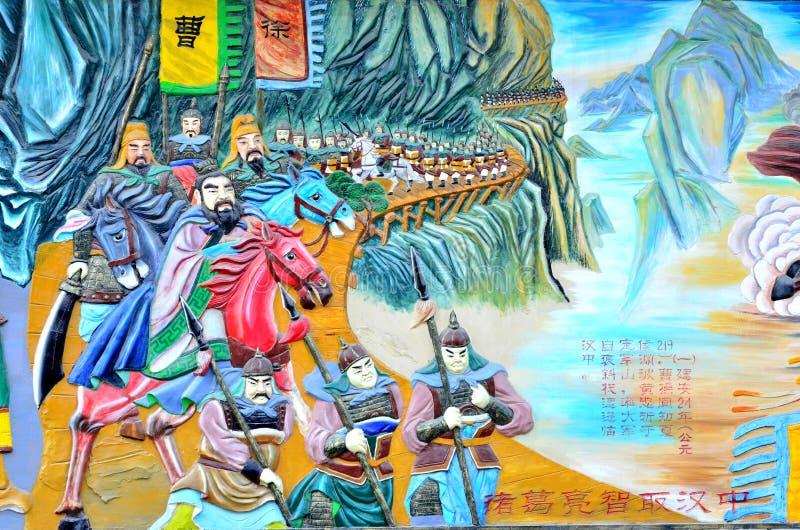 Chiński obraz antyczny chiński wojsko zdjęcie stock