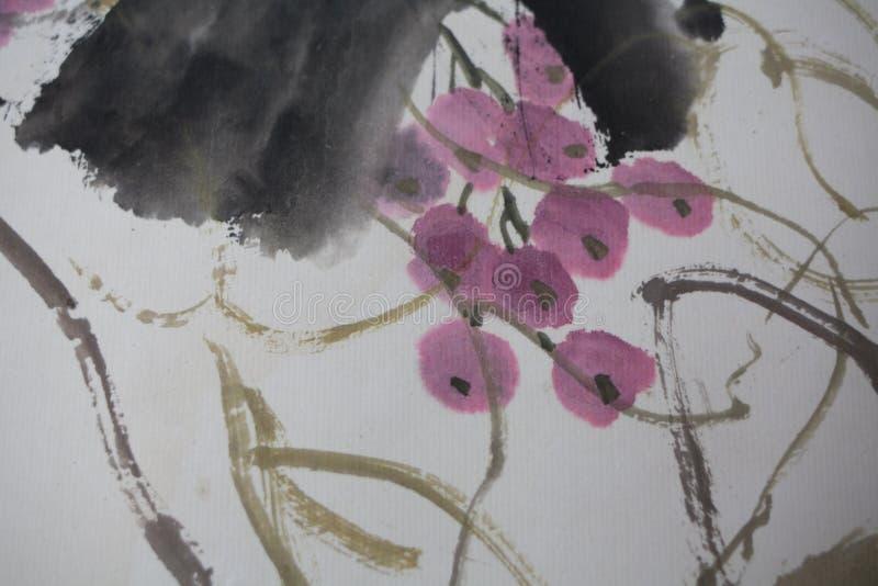 Chiński obraz na papierze, miejscowy zdjęcie royalty free