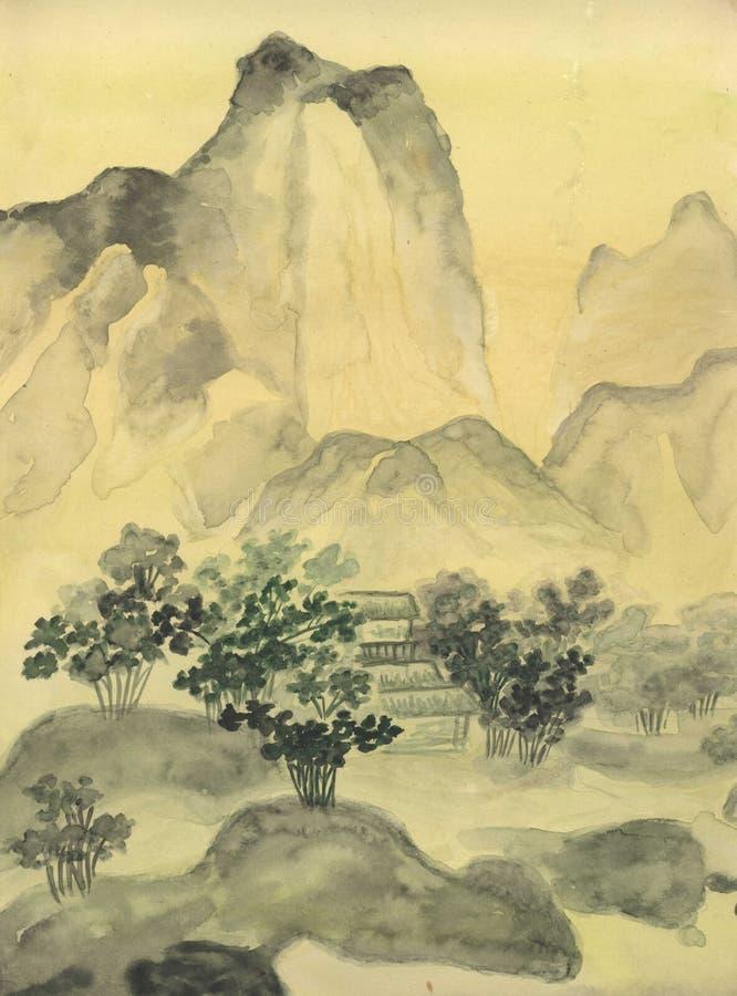 chiński obrazek royalty ilustracja