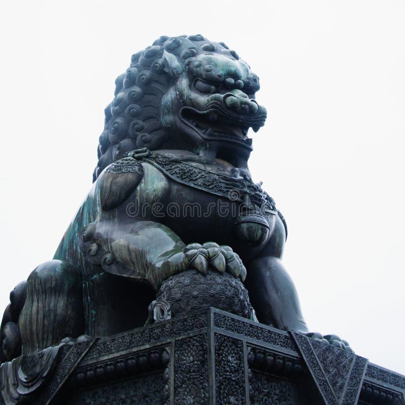 Chiński opiekunu lew, Zakazujący miasto Gugong zdjęcie stock