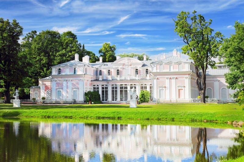 Chiński pałac w Oranienbaum parku. (Lomonosov) Świątobliwy Petersburg. obrazy royalty free