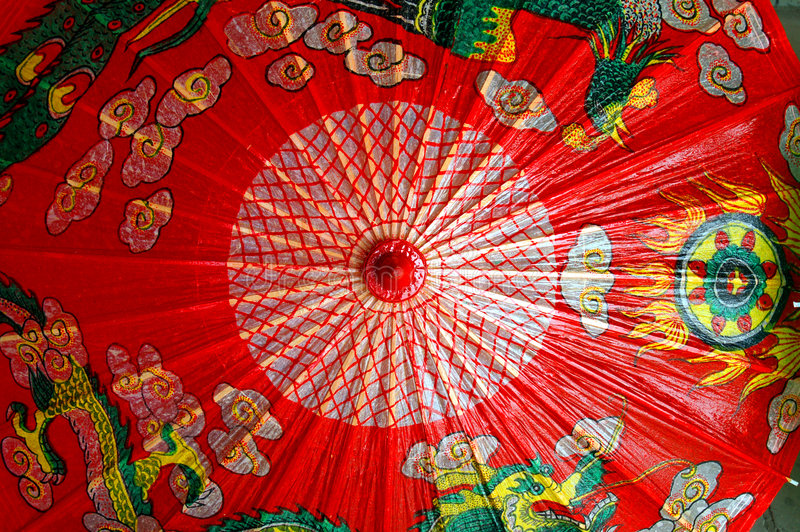 chiński parasolkę obraz royalty free