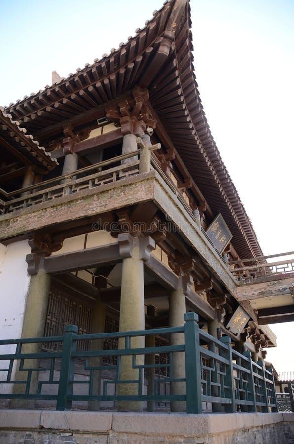 Chiński pawilon przy Dunhuang obraz stock