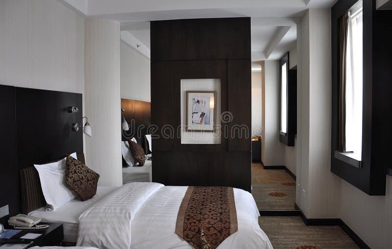 Chiński pokoju hotelowego wnętrze od Pekin obrazy royalty free