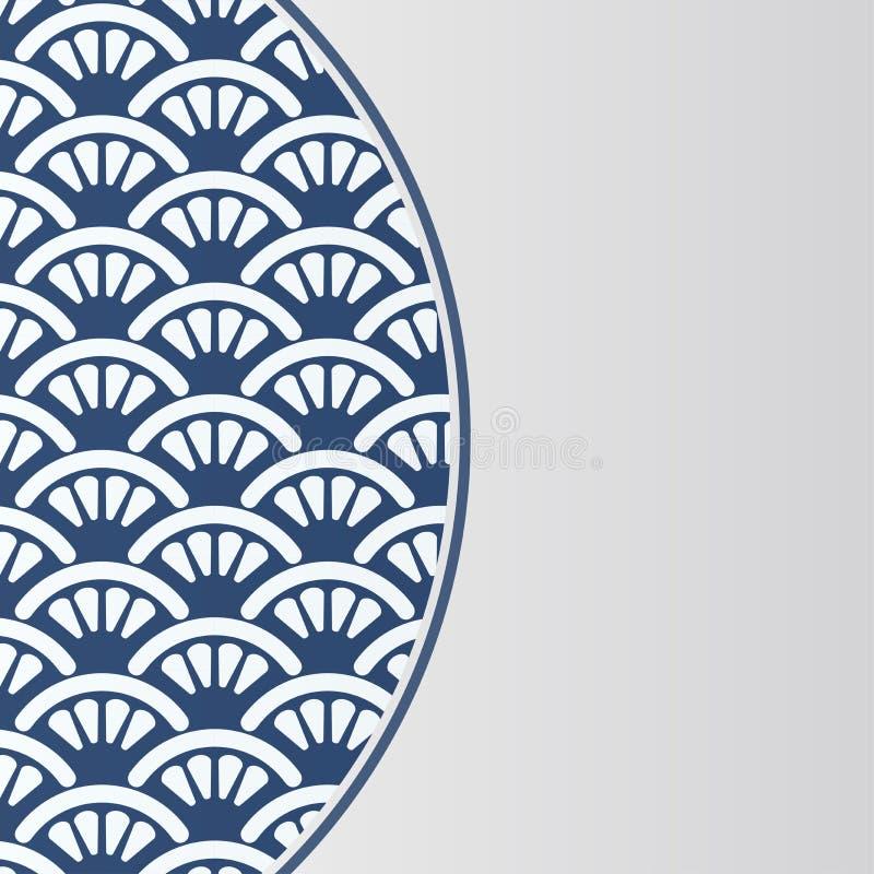 Chiński porcelana stylu tło ilustracja wektor