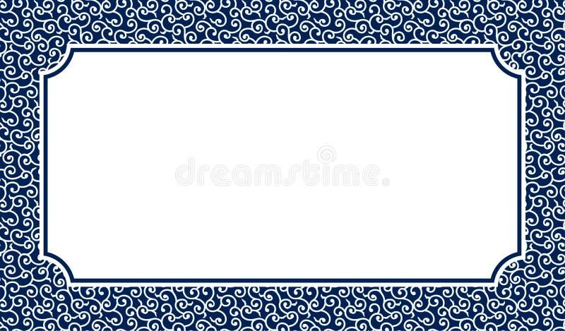 Chiński porcelana stylu tło, szablon, chmura ilustracji