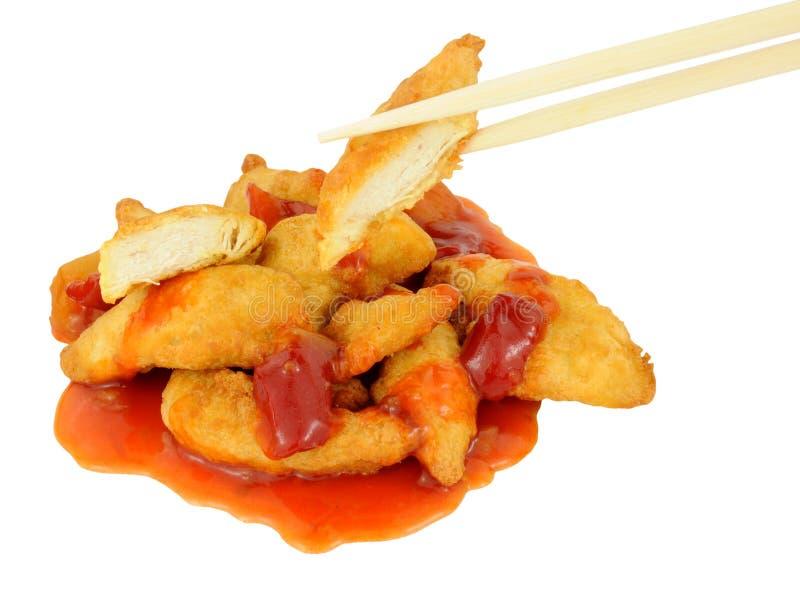 Chiński Powyginany cukierki I podśmietanie kurczak zdjęcia stock