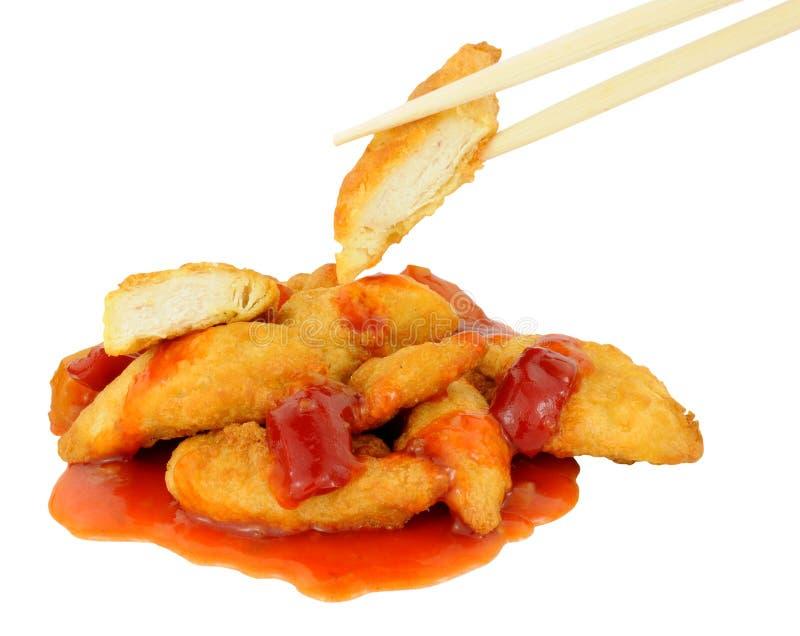 Chiński Powyginany cukierki I podśmietanie kurczak fotografia stock