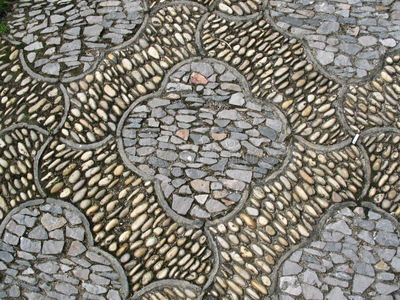 Chiński projekta kamienia drogi zbliżenie obraz royalty free