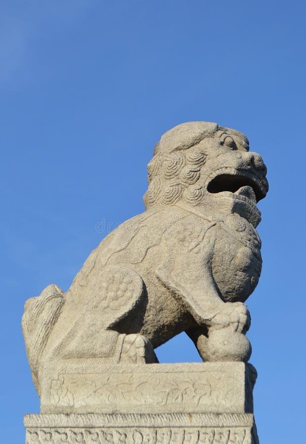 Chiński rzeźby Shih tsza w StPetersburg zdjęcia royalty free