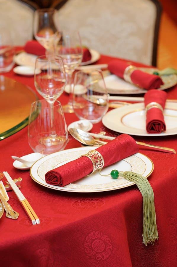 chiński setu stołu ślub obraz stock