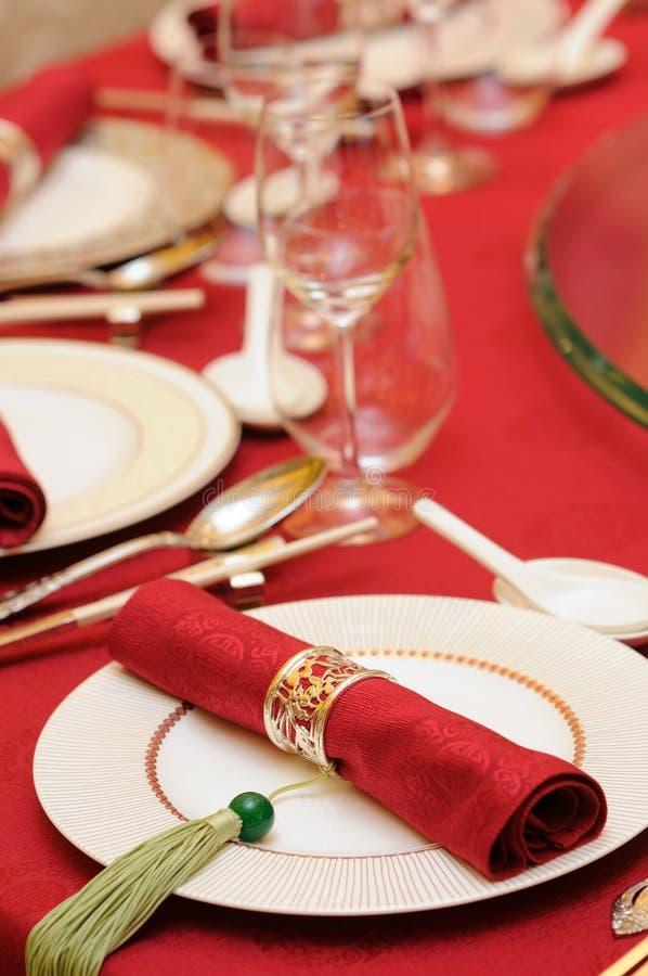 chiński setu stołu ślub zdjęcia stock