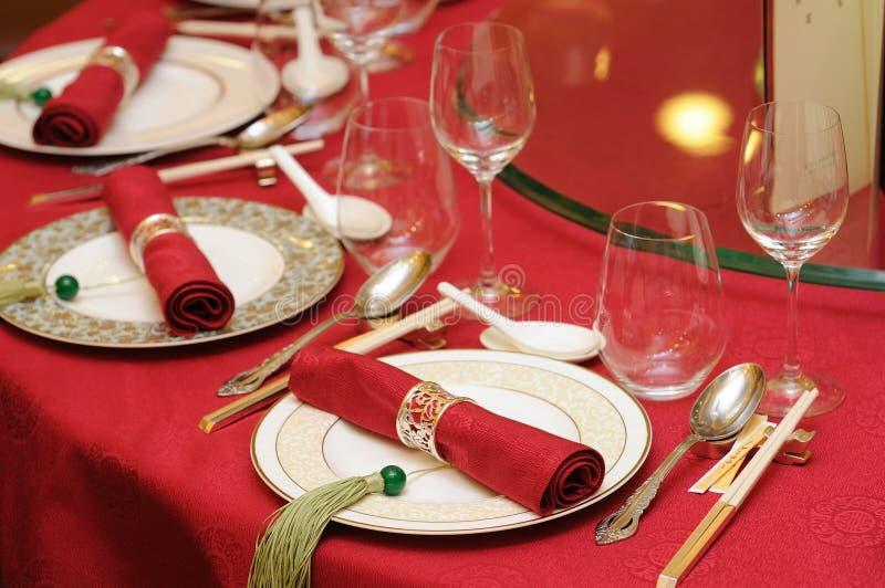 chiński setu stołu ślub obrazy stock