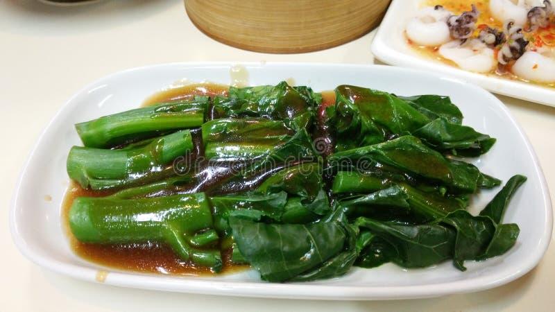 chiński smażący kale ostrygowy kumberlandu fertanie obrazy stock