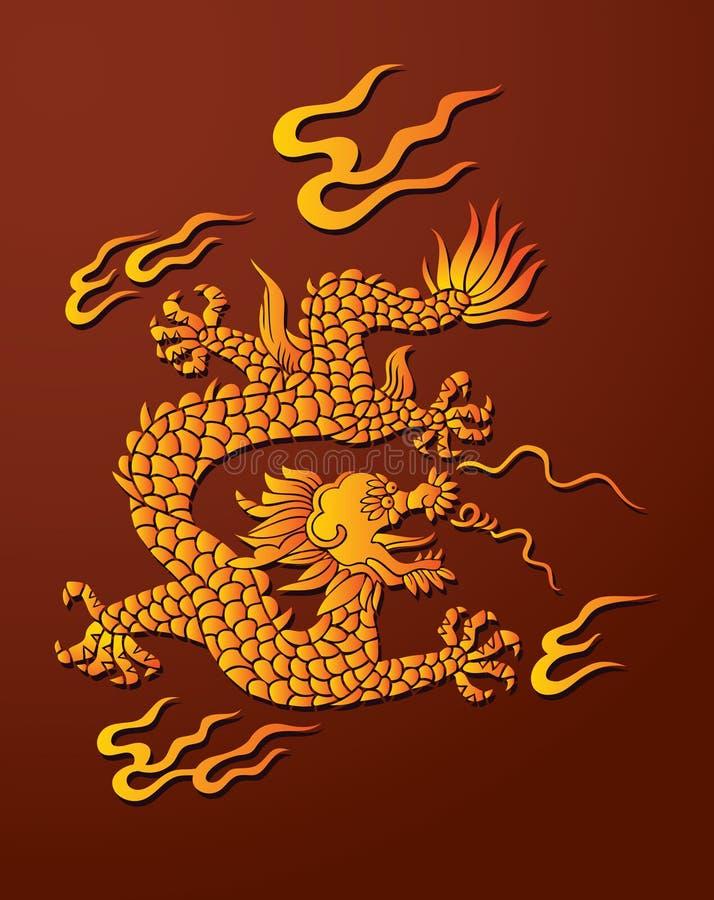chiński smok ilustracja wektor
