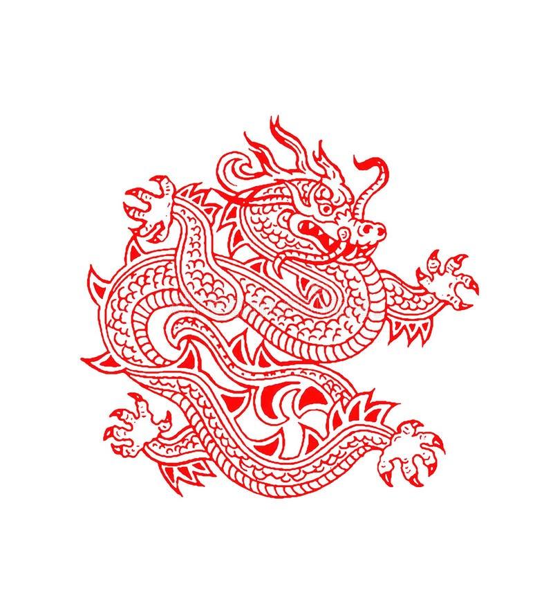 chiński smok ilustracji