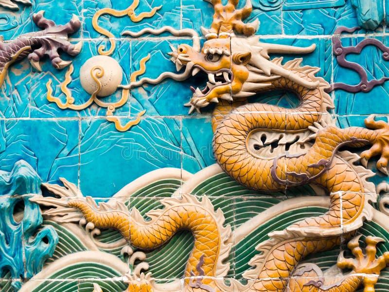 Chiński smoka ekran zdjęcia royalty free