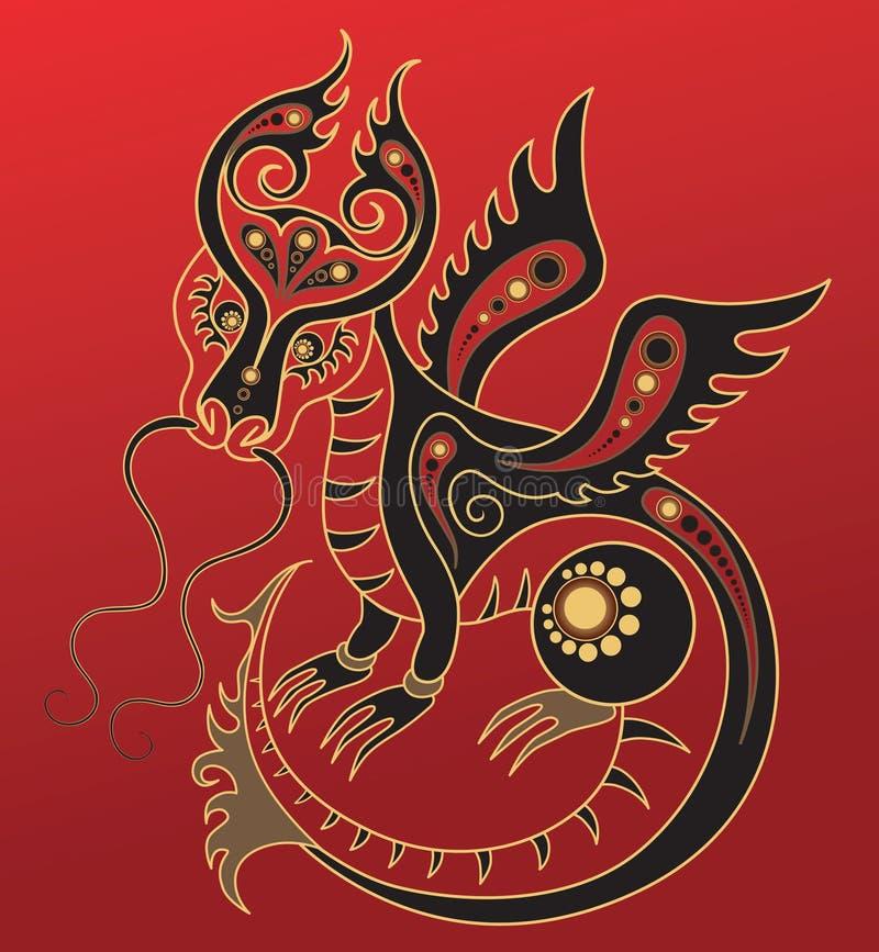chiński smoka horoskopu rok royalty ilustracja
