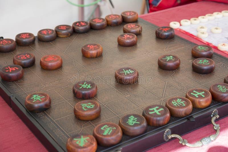 Chiński szachy (Xiangqi) zdjęcie stock