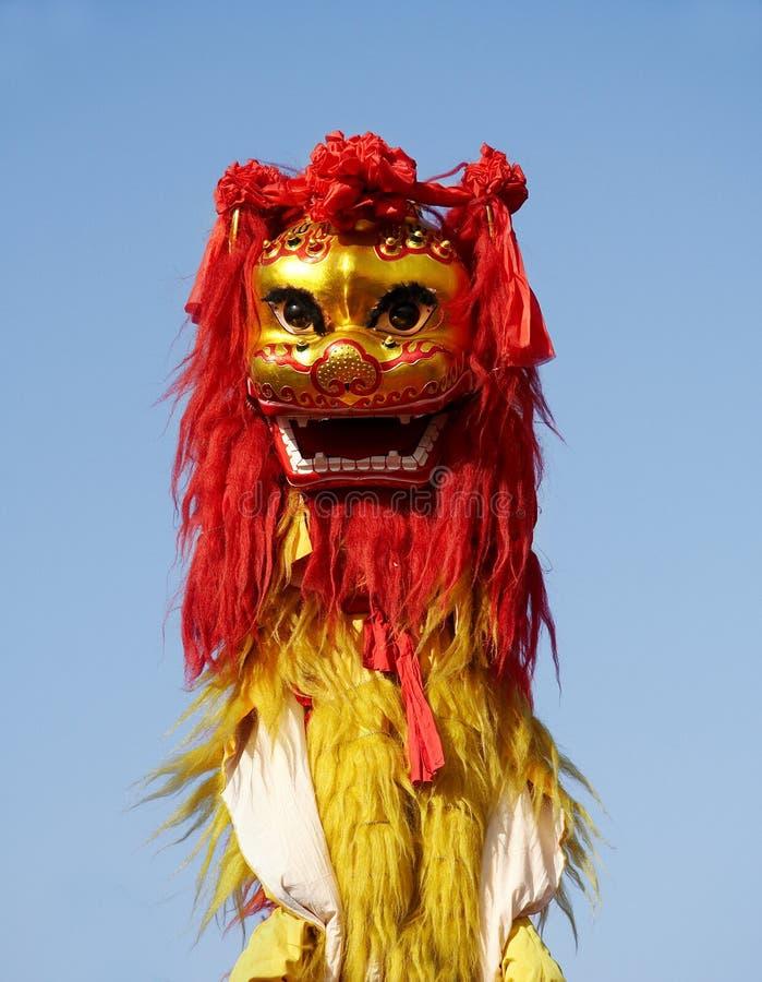 chiński taniec lwa zdjęcia royalty free
