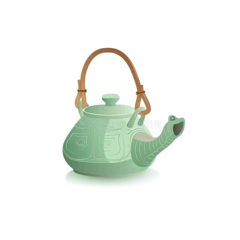 Chiński teapot żółw ilustracja wektor