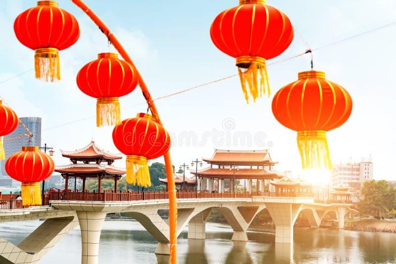 Chiński tradycyjnego stylu most zdjęcie stock