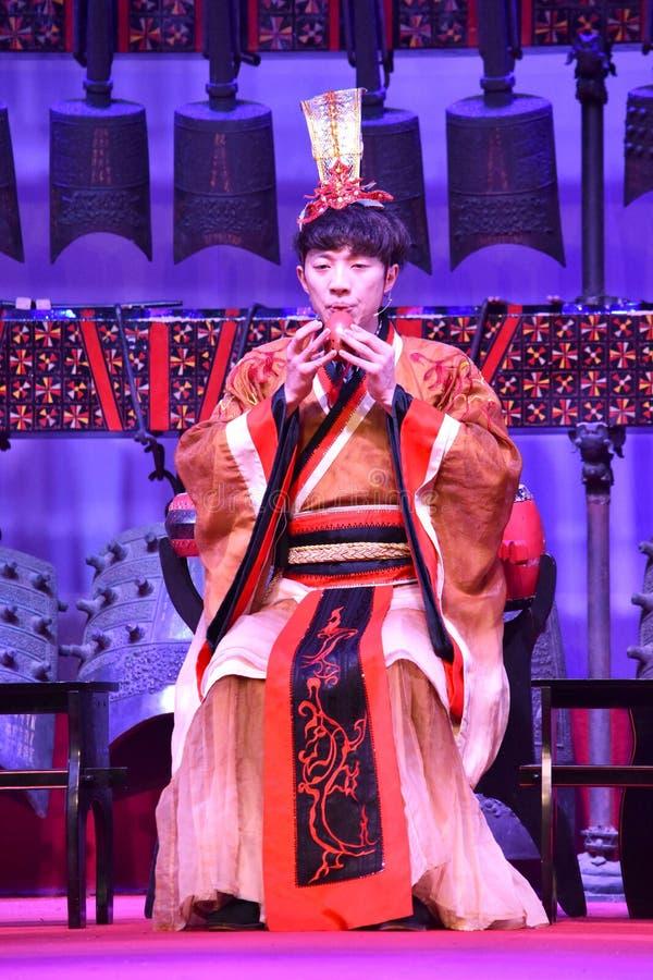 Chiński tradycyjny musical i impreza kulturalna fotografia royalty free