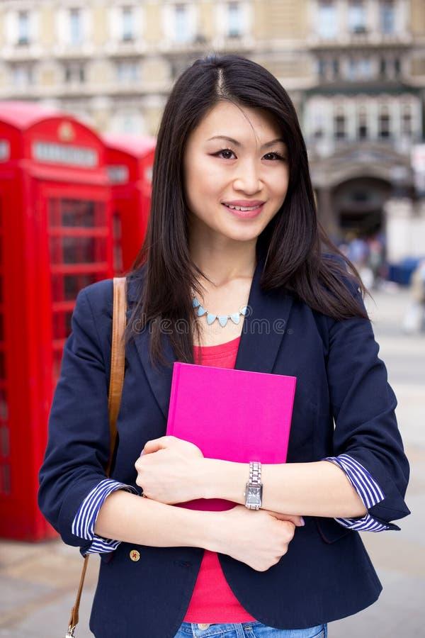 Chiński uczeń w London fotografia stock