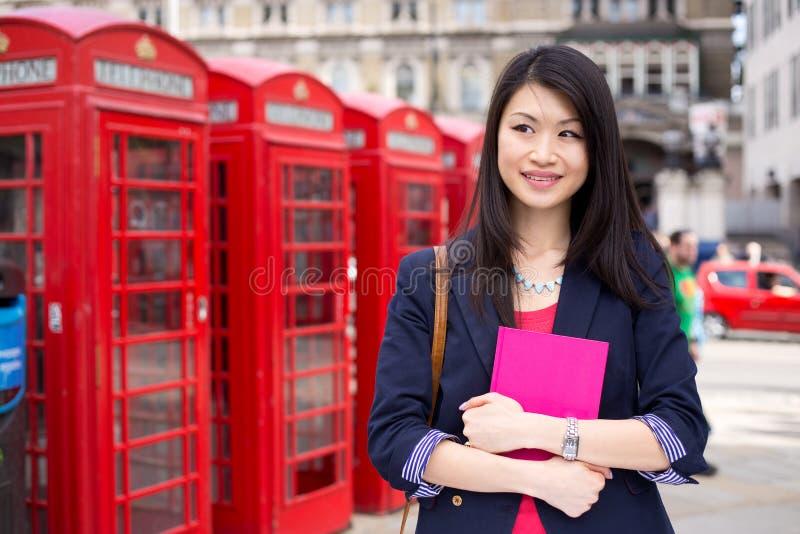 Chiński uczeń w London zdjęcia royalty free
