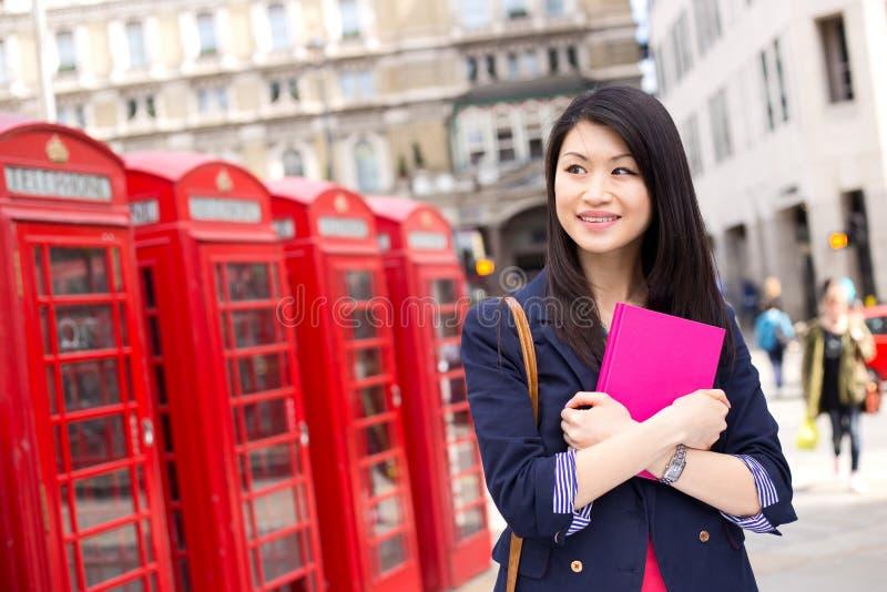 Chiński uczeń w London obrazy stock