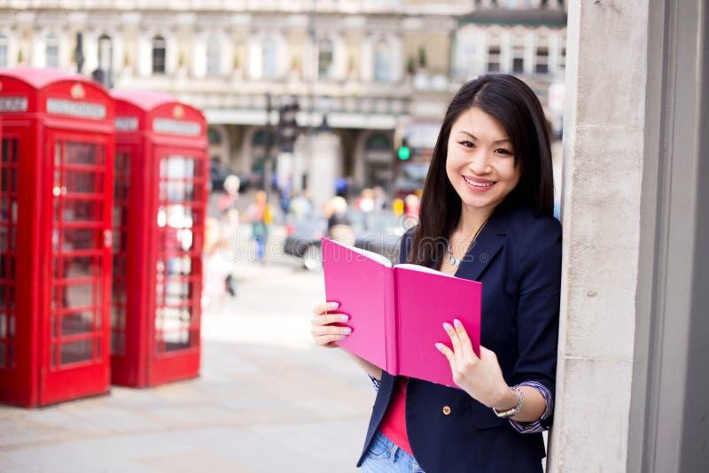 Chiński uczeń w London obraz royalty free