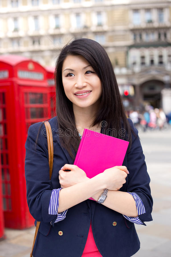 Chiński uczeń w London obraz stock