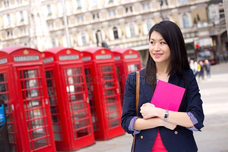 Chiński uczeń w London zdjęcia stock