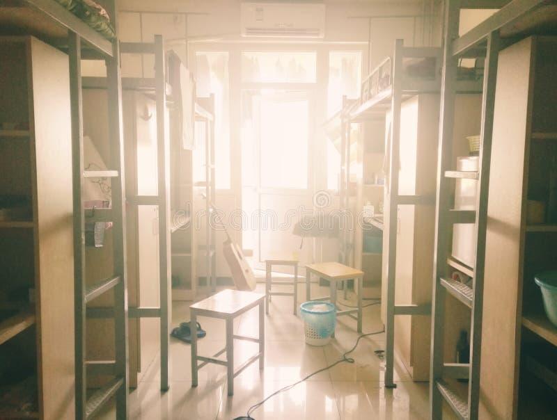 Chiński ucznia Dorm pokój obraz stock
